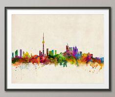Toronto Canada City Skyline Art Print 299 by artPause on Etsy, £11.99