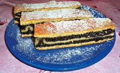 skladaný makový koláč - vraj kto má rád makové, lepší koláč nenajde ;) Czech Recipes, Russian Recipes, Eastern European Recipes, Sweet Desserts, Desert Recipes, Sweet Tooth, Bakery, Deserts, Food And Drink