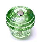 """B & M Hardware Vintage 1-1/8"""" (29mm) Glass Cabinet Knob (Depression Green) For my new kitchen with white cabinets :)"""