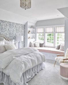 Teen Bedroom Interior Design Ideas Color Scheme Decor Ideas 25 Room Design Ideas For Teenage. Window Benches, Modern Window Seat, Teenage Girl Bedrooms, Girls Bedroom Ideas Teenagers, Teenage Girl Bedroom Designs, Girl Rooms, Bedroom Windows, Window Seats Bedroom, Seating In Bedroom