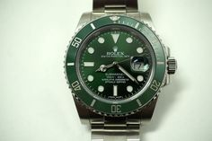 """Rolex """"Hulk"""" steel Submariner with box & card c. 2013 for sale Houston Fabsuisse Stainless Steel Bracelet, Stainless Steel Case, High End Watches, Rolex Date, Hulk, Rolex Watches, Dates, Product Launch, Box"""