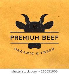 Restaurant Logo Design, Restaurant Marketing, Carnicerias Ideas, Chinese Logo, Bull Logo, Farm Logo, 1 Logo, Butcher Shop, Carne Asada