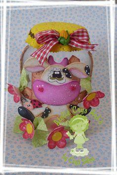 590342ce412ea Realiza un precioso y original frasco de vidrio decorado todo realizado en goma  eva