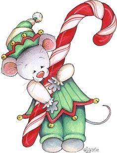 christmas mouse clip art more