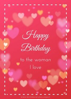 Cute Happy Birthday Messages to Make Them Crack a Smile! Cute Happy Birthday Messages, Birthday Message For Wife, Birthday Wishes For Wife, Romantic Birthday Wishes, Birthday Wishes And Images, Wife Birthday, Very Happy Birthday, Birthday Images, Happy Mothers Day Wishes