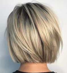 Short and cheeky Blunt Bob Haircut # Bobhair cuts # Haircuts … Kurzer und frecher stumpfer Bob-Haarschnitt # Graduated Bob Haircuts, Blunt Bob Haircuts, Short Bob Hairstyles, Neck Length Hairstyles, Short Graduated Bob, Hairstyles Haircuts, Pixie Haircuts, Layered Haircuts, Celebrity Hairstyles
