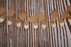 acorn template for garland