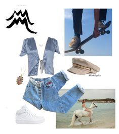 """""""Aquarius"""" by alicexfromont ❤ liked on Polyvore featuring Nature Girl, Virgins Saints & Angels, Christian Dior and NIKE"""