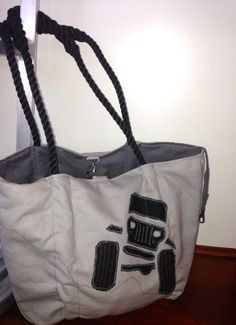 Jeep Bag, Grey with Black off-road Jeep on Etsy, $200.00