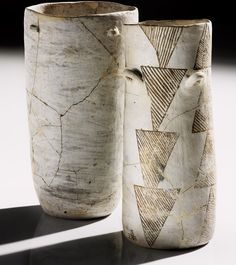 Ancestral Pueblo jars  AD 900–1130  Pueblo Bonito, Chaco Canyon, New Mexico  Clay, paint