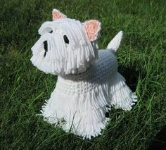 Westie PDF Crochet Pattern (several other breeds available too): http://tidd.ly/e4eb28cc (affiliate) -Pamela #crochet #patterns #crochetersanonymous