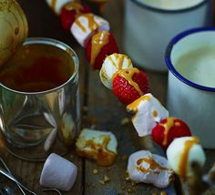 Marshmallow & strawberry kebabs