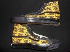 NOS vintage 80's Very Rare skateboarding shoes Vans hi tops men's 6 1/2