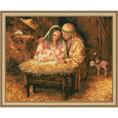 Light of Love Counted Cross-Stitch Kit - Herrschners #christian #baby #jesus #nativity