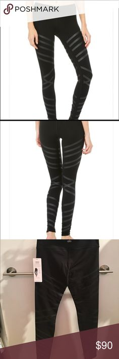 NWT- ALO leather yoga ALO leather airbrush pants. These are high waisted and very soft! Never worn, NWT. Open to reasonable offers- no lowballing please. ✌️ ALO Yoga Pants Leggings