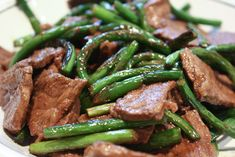 Garlic scapes and steak stir fry -- If I EVER find garlic scapes