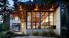 Casa Moderna en el Bosque