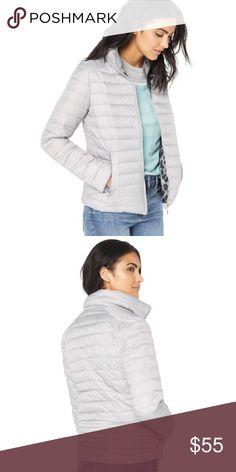 Nanette Lepore Silver Puffer Jacket - NWT A woven puffer jacket by NANETTE  lepore featuring a 5bbacf85545e3