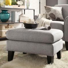 Uptown Modern Ottoman by iNSPIRE Q Classic