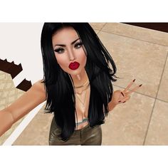 When your face is beat to capacity but you have no where to go. #imvu #imvubeauties #sillyface #imvuonly #makeup #beauty #facebeat #love #redlip