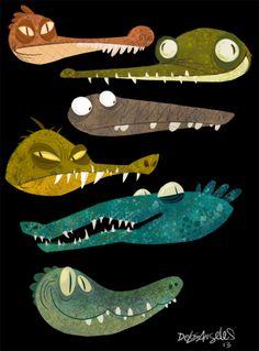 rickyanimation: Gators and Crocs.