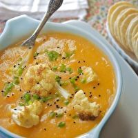 Sweet Potato Cauliflower Soup by Manifest: Vegan