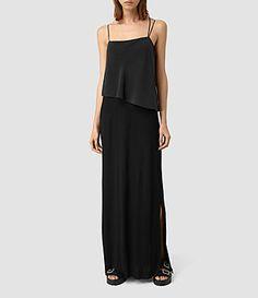 ALLSAINTS: Robes Femme - Soie, Viscose, Jersey