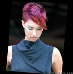"""Undercut""  short hair version with red hair color"
