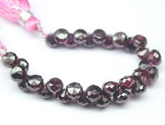 Natural Garnet Faceted Onion Drops Briolette Beads Strand – Jewels Exports