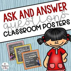 Ask and Answer Questions RL 3.1 Classroom Posters