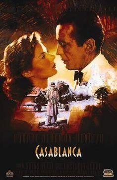 Casablanca Movie Poster 11 X 17 Humphrey Bogart Ingrid Bergman S Usa Old Movie Posters, Classic Movie Posters, Cinema Posters, Classic Movies, Vintage Posters, Classic Books, Humphrey Bogart, Old Movies, Vintage Movies