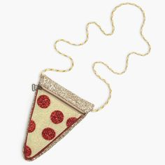 crewcuts pizza slice bag. See more of our crewcuts glitter bags at jcrew.com/blog.