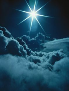 Sun Glare Above Clouds     by Bruce Clarke