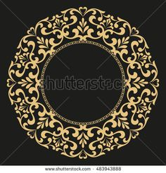Decorative line art frame for design template. Elegant element for design in Eastern style, place for text. Lace illustration for invitations and greeting cards Clock Painting, Clock Art, Islamic Art Pattern, Pattern Art, Motifs Islamiques, Deco Paint, Decorative Lines, Thai Art, Turkish Art