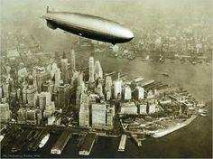 New York - Hindenburg Zeppelin, 1936 Poster Kunstdruck (80x60cm) #8202