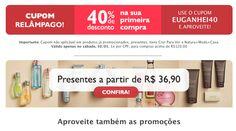 Atenção !!! Torne-se Cliente !!! IMPERDÍVEL Ganhe 40% desconto na primeira compra. Acesse >> http://rede.natura.net/espaco/ljpurocharmebauru Somente neste sábado 30/05/2015. Quer um exemplo de economia:  Compre R$ 300,00 de produtos NATURA.  pague R$ 180,00 no Boleto ou parcele em até 06x de R$ 30,00.