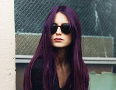 Aubergine color, I like this...just maybe not my whole head and maybe just some hilights