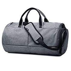 LYCSIX66 Canvas Travel Duffels Sport Gym Bag with Shoe Pouch Review Casual  Hombre 32de20925e68e