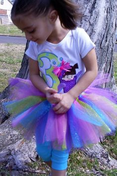 """Monsters Inc. Inspired """"Bling"""" BOO Birthday Party Set includes SHIRT and Sparkle TUTU in Lime, Turquoise, Pink and ..."""