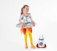 Now your little space fan can go on imaginary explorations dressed in our supercool Light-Up Astronaut Costume. This shining jumpsuit features a light-up jetpack on the back so they're safely seen on Halloween night and is made from comfy