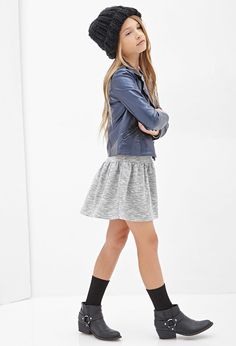 Forever 21 girls Faux Leather Moto Jacket (Kids) on shopstyle.com