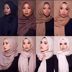 Ideas style korean girl hijab for 2019 - outfit.tophaarmodelle - M MISM Ethnic Oversize Muslim Crinkle Hijab Head Scarf Women Solid Bubbleintothea Hijab Musulman, Hijab Mode, Hijab Stile, Turban Hijab, Muslim Hijab, Hijab Dress, Hijab Outfit, Hijab Makeup, Islam Muslim