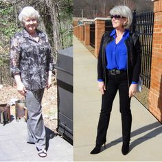 Susan Street is the editor of Fifty, not Frumpy: January 2015. She started the blog after she lost 45 pounds and had to buy a whole new wardrobe.