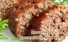 Rocambole de carne com aveia - Receitas fit  #receitasfit #receitaslight #receitas #fitness