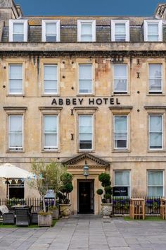 Abbey Hotel is a stylish and contemporary boutique-style hotel occupying three Georgian townhouses on North Parade, a wide promenade in Bath's old quarters close to the spectacular Pulteney Bridge and Roman Baths. Interiors are inspired by Bath's artistic heritage with bold print patterns, textured wallpapers and statement colours used throughout the hotel, which nod to different branches of art and design celebrated in Bath such as fine art, print, architecture and photography. Double Room, Double Beds, Branches Of Art, Georgian Townhouse, Textured Wallpaper, Bold Prints, Ground Floor, Terrace, The Neighbourhood