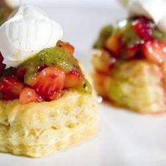Strawberry Kiwifruit Tartlets @ allrecipes.com.au
