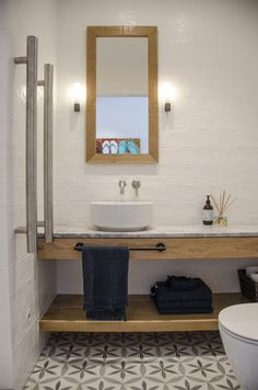Residential – Your interior design specialists Cement Bathroom, Downstairs Bathroom, Bathroom Layout, Small Bathroom, Cement Tiles, Bathroom Ideas, Floating Bathroom Vanities, Bathroom Vanity Units, Floating Vanity