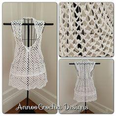 Annoo's Crochet World: Bermuda Beach Cover up Free Pattern