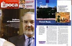 Reportaje para la revista Época, semanal, de carácter generalista editada en España.  Reportaje sobre el Gran Hotel Real de Santander (España).  Reportaje escrito por David Espriu