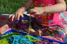 Rainbow Worms - great for sensory and cutting practice!! -  Pinned by @PediaStaff – Please Visit http://ht.ly/63sNt for all our pediatric therapy pins